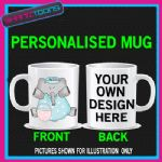 CUTE ELEPHANT LADIES MUG PERSONALISED GIFT 004